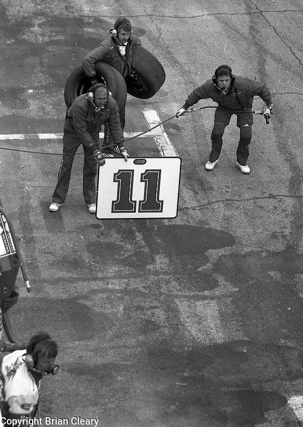 Terry Labonte pits pit stop Daytona 500 at Daytona International Speedway on February 19, 1989.  (Photo by Brian Cleary/www.bcpix.xom)