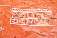 Rock art, Utah National Park, Ancient Native American rock painting