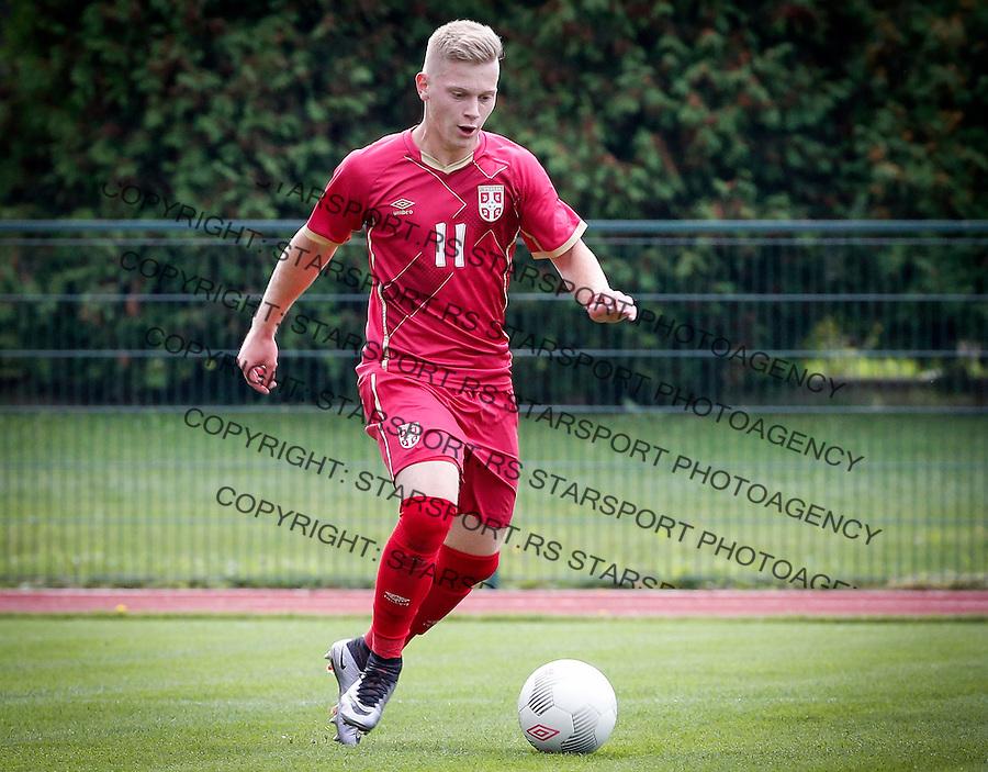 Fudbal Soccer<br /> International Friendly-Prijateljski mec<br /> Srbija U17 v Belorusiaj U17<br /> Jovan Kokir<br /> Stara Pazova, 20.09.2016<br /> foto: Srdjan Stevanovic/Starsportphoto &copy;