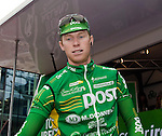 Stephen Gallagher, An Post Sean Kelly Team at the sign of the Tour of Ireland cycle race, Dublin