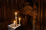 Israel, Jerusalem, the interior of the Edicule at the Church of the Holy Sepulchre, the Chapel of the Angel