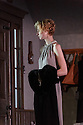 """THE RED BARN, by David Hare, based on the Georges Simenon novel """"La Main"""", opens in the Lyttelton, at the National Theatre. Directed by Robert Icke, with lighting design by Paule Constable, and design by Bunny Christie. Picture shows:  Elizabeth Debicki (Mona Sanders)."""