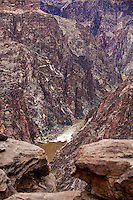 Horn Creek rapid in the Colorado River as seen from Plateau Point