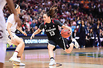 DALLAS, TX - MARCH 31:  Marta Sniezek #13 of the Stanford Cardinal drives during the 2017 Women's Final Four at American Airlines Center on March 31, 2017 in Dallas, Texas. (Photo by Justin Tafoya/NCAA Photos via Getty Images)
