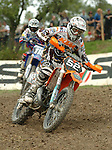 Motocross, MX2 WM 2004, Weltmeisterschaft, Grand Prix of Europe, Gaildorf (Germany) Pascal Leuret (FRA), KTM