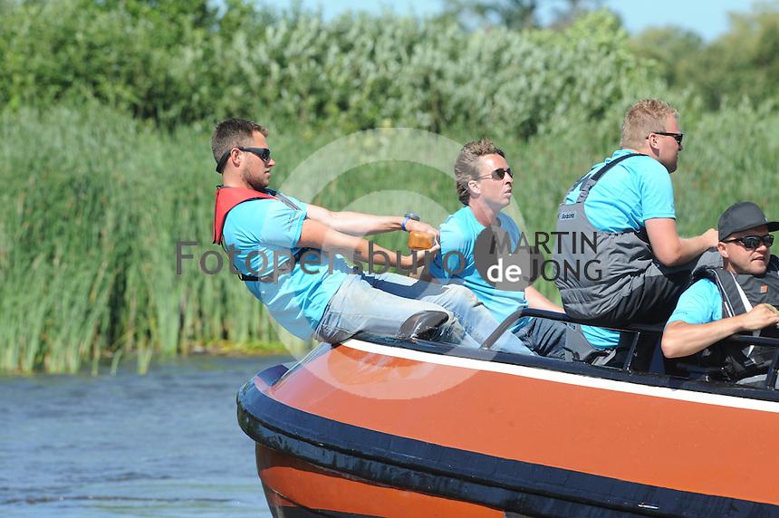 SKÛTSJESILEN: EARNEWÂLD: 21-07-2015, SKS kampioenschap 2015, winnaar werd Gerhard Pietersma van het Earnewâldster skûtsje, ©foto Martin de Jong