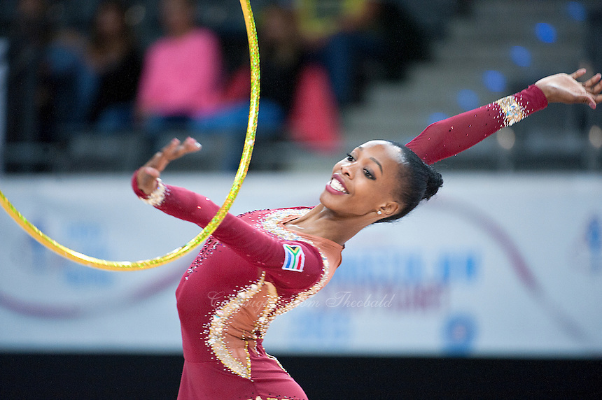 September 7, 2015 - Stuttgart, Germany - GRACE LAGOTE of South Africa performs during AA qualifications at 2015 World Championships to win the Africa continental selection to Rio 2016.