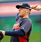2 April 2011: Atlanta Braves first baseman Freddie Freeman warms up prior to a game against the Washington Nationals at Nationals Park in Washington, District of Columbia. The Nationals defeated the Braves 6-3 in the second game of their season opening series. Mandatory Credit: Ed Wolfstein Photo