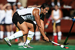 25 October 2014: Wake Forest's Anna Kozniuk (CAN). The University of North Carolina Tar Heels hosted the Wake Forest University Demon Deacons at Francis E. Henry Stadium in Chapel Hill, North Carolina in a 2014 NCAA Division I Field Hockey match. UNC won the game 3-1.