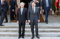 Mario Monti and Mariano Rajoy, prime ministers at Hispano-Italian meeting