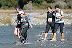 NELSON LAKES, NEW ZEALAND - APRIL 18: 2015 Alpine Lodge Loop The Lake trail run at Lake Rotoiti on April 18 16, 2015 in Nelson, New Zealand. (Photo by Barry Whitnall/Shuttersport Limited)