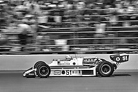 INDIANAPOLIS, IN - May 28: Janet Guthrie drives her Wildcat III/DGS in the 1978 Indianapolis 500 on May 28, 1978, at the Indianapolis Motor Speedway in Speedway, Indiana.