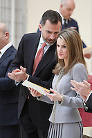 The Spanish Royals attend the National Awards of Culture 2011 and 2012