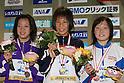 (L to R) .Ayana Miwa, .Yai Watanabe, .Natsumi Yamamoto, .FEBRUARY 11, 2012 - Swimming : .The 53rd Japan Swimming Championships (25m) .Women's 200m Butterfly Victory Ceremony .at Tatsumi International Swimming Pool, Tokyo, Japan. .(Photo by YUTAKA/AFLO SPORT) [1040]