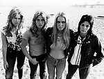 The Runaways 1978 Vicky Blue, Sandy West, Lita Ford and Joan Jett