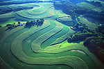 PA landscapes, Aerial Photograph, Berks Co., Pennsylvania, Contour Farming, Family Farm