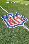 21 October 2007: The NFL Logo is woven into the artificial turf at Ralph Wilson Stadium in Orchard Park, NY. The Bills defeated the Ravens 19-14 in front of 70,727 fans marking their second win of the 2007 season...Mandatory Photo Credit: Ed Wolfstein Photo