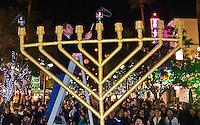 Assemblyman Richard Bloom lights the Menorah at the Third Street Promenade on the first night of Chanukah on Saturday, December 8, 2012. The Menorah lighting ceremony was presented by Chabad House Lubavitch of Santa Monica.