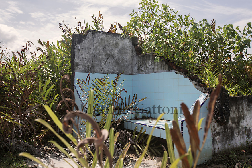 Indonesia - Sumatra - Aceh - Padang Seurahet - Remains of the kitchen of a private villa destroyed by the tsunami.