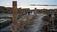 Libia  Sabratha .Citt&agrave;  romana a circa 67km da Tripoli. Il foro romano.<br /> Sabratha Libya.Roman city about 67km from Tripoli.<br /> The roman forum