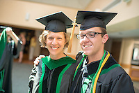 Martha Seagrave, M.D., left, Isaac Noyes. Class of 2012 commencement.