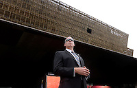 A secret service agent stands still during the opening ceremony of the Smithsonian National Museum of African American History and Culture on September 24, 2016 in Washington, DC. The museum is opening thirteen years after Congress and United States President George W. Bush authorized its construction. <br /> Credit: Olivier Douliery / Pool via CNP / MediaPunch