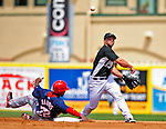 16 March 2009: Florida Marlins' infielder Dan Uggla in action during a Spring Training game against the Washington Nationals at Roger Dean Stadium in Jupiter, Florida. The Nationals defeated the Marlins 3-1 in the Grapefruit League matchup. Mandatory Photo Credit: Ed Wolfstein Photo