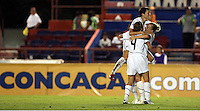 Yael Averbuch (4), Amy Rodriguez (8) and Megan Rapinoe (15) at the 2010 CONCACAF Women's World Cup Qualifying tournament held at Estadio Quintana Roo in Cancun, Mexico.