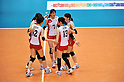 Japan Women's Volleyball Team Group (JPN),.MAY 27, 2012 - Volleyball : FIVB the Women's World Olympic Qualification Tournament for the London Olympics 2012, between Japan 2-3 Serbia at Tokyo Metropolitan Gymnasium, Tokyo, Japan. (Photo by Jun Tsukida/AFLO SPORT) [0003].