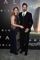 "Westwood, CA - NOVEMBER 06: Amy Adams, Darren Le Gallo at Premiere Of Paramount Pictures' ""Arrival"" At Regency Village Theatre, California on November 06, 2016. Credit: Faye Sadou/MediaPunch"