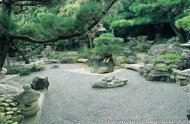 Japanese Zen Garden In Kyoto Mann 042 Tif 1 Of 1 This Zen Garden
