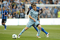 Jacob Peterson (37) Sporting KC in action.<br /> Montreal Impact defeated Sporting Kansas City 2-1 at Sporting Park, Kansas City, Kansas.