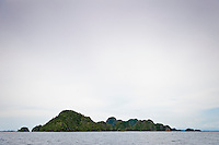 Much of the Raja Ampat area consists of an ancient karst landscape and their are thousands of tiny islands scattered across a huge area.