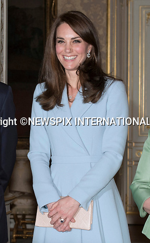 11.05.2017; Luxembourg: KATE MIDDLETON WITH THE GRAND DUKE AND DUCHESS OF LUXEMBOURG<br /> at the Grand Ducal Palace, Luxembourg.<br /> Mandatory Photo Credit: &copy;Francis Dias/NEWSPIX INTERNATIONAL<br /> <br /> IMMEDIATE CONFIRMATION OF USAGE REQUIRED:<br /> Newspix International, 31 Chinnery Hill, Bishop's Stortford, ENGLAND CM23 3PS<br /> Tel:+441279 324672  ; Fax: +441279656877<br /> Mobile:  07775681153<br /> e-mail: info@newspixinternational.co.uk<br /> Usage Implies Acceptance of OUr Terms &amp; Conditions<br /> Please refer to usage terms. All Fees Payable To Newspix International