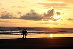 Central America, Costa Rica, Playa Esterillos Este. Sunset scene at Playa Esterillos Este from Alma del Pacifico Hotel.