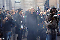 Demonstrators and media were prevented from leaving Threadneedle Street, outside the Bank of England, as thousands of protestors descended on the City of London ahead of the G20 summit of world leaders to express anger at the economic crisis, which many blame on the excesses of capitalism.