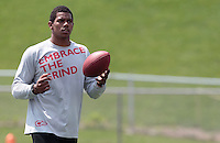 HEMPFIELD TOWNSHIP, PA - AUGUST 20:  Terrelle Pryor practices prior to his pro day at a practice facility on August 20, 2011 in Hempfield Township, Pennsylvania.  (Photo by Jared Wickerham/Getty Images)