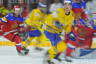 Friday, 5 May, 2017,Lanxess Arena , Cologne/GER<br /> IIHF World Hockey Championship 2017<br /> SWE  vs  RUS<br /> 2nd  period,Sweden faster than Russia,still leads 1:0