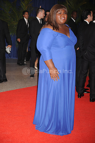 Gabourey Sidibe arrives at the White House Correspondents' Association Dinner in Washington, DC. May 1, 2010. Credit: Dennis Van Tine/MediaPunch