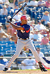 6 March 2006: Cristian Guerrero, outfielder for the Washington Nationals, at bat during a Spring Training game against the Los Angeles Dodgers. The Nationals and Dodgers played to a scoreless tie at Holeman Stadium, in Vero Beach Florida...Mandatory Photo Credit: Ed Wolfstein..