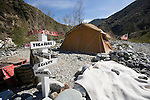 Gold Miner's Camp on the East Fork River, Tuesday, March 3, 2009..