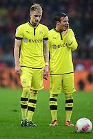 FUSSBALL   1. BUNDESLIGA   SAISON 2012/2013    20. SPIELTAG Bayer 04 Leverkusen - Borussia Dortmund                  03.02.2013 Marco Reus (li) und Mario Goetze (re, beide Borussia Dortmund)