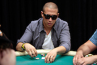 28 February 2009: Celebrity player Erik Palladino is a former winner of the 7th Annual WPT World Poker Tour Invitational at the Commerce Casino in Los Angeles, CA. Players compete for poker glory and a  piece of the $200,000 prize pool. Celebrity and Pro card players in action.