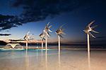 Fish sculpture at the Esplanade Lagoon.  Cairns, Queensland, AUSTRALIA