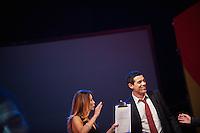 PESCARA (PE) 08/07/2012 - 39° FILM FESTIVAL INTERNAZIONALE FLAIANO. PREMIAZIONE FINALE. IN FOTO ALESSANDRO GASSMAN CON I PRESENTATORI. .FOTO DI LORETO ADAMO