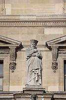 Francois Rabelais, 1494 - 1553, major French Renaissance writer, doctor and humanist, Louvre Museum, Paris, France Picture by Manuel Cohen
