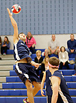 Oxford, CT- 21 April 2017-042117CM12-  Oxford's Will Richter jumps up to return the ball during their volleyball matchup against Shelton in Oxford on Friday.       Christopher Massa Republican-American