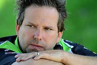 May 19, 2012; Topeka, KS, USA: NHRA funny car crew chief Del Worsham during qualifying for the Summer Nationals at Heartland Park Topeka. Mandatory Credit: Mark J. Rebilas-
