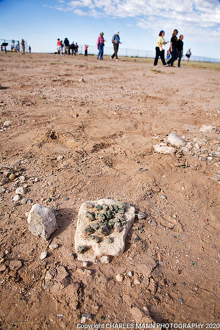The Trinity Test Site, where the first atomic bomb was exploded on July 16, 1945, is open to the public on the first Saturday of April and October. Small pieces of Trinitite are stillfound at Gorund Zero. It is illegal to take them.
