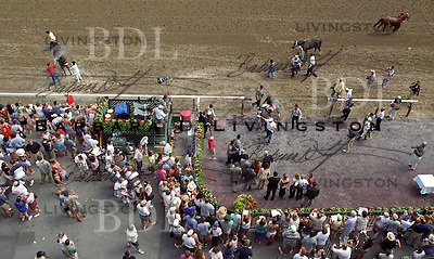 Saratoga, after the race.  1998?